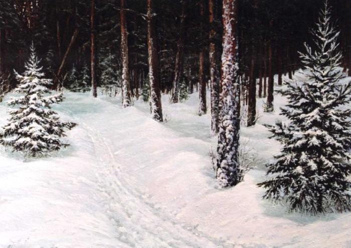 Зимний лес. Обсуждение на LiveInternet - Российский Сервис ... Лидия Арт