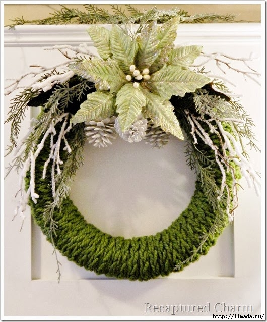 finger knitted christmas wreath16_thumb[4] (530x638, 246Kb)