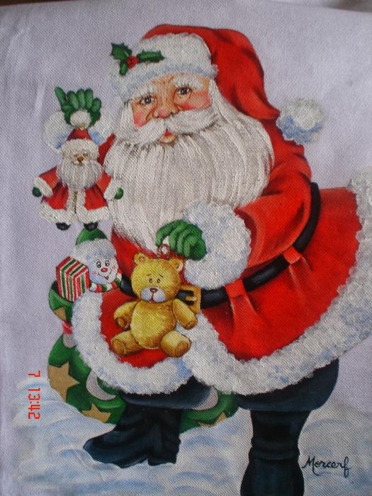 Рождественская роспись по ткани. Санта Клаус, снеговики (2) (525x700, 320Kb)