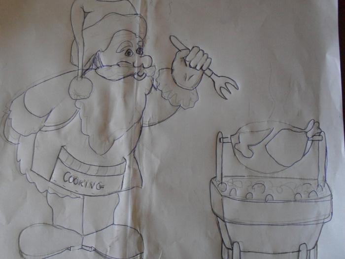 Рождественская роспись по ткани. Санта Клаус, снеговики (24) (700x525, 220Kb)