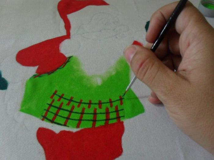 Рождественская роспись по ткани. Санта Клаус, снеговики (28) (700x525, 217Kb)