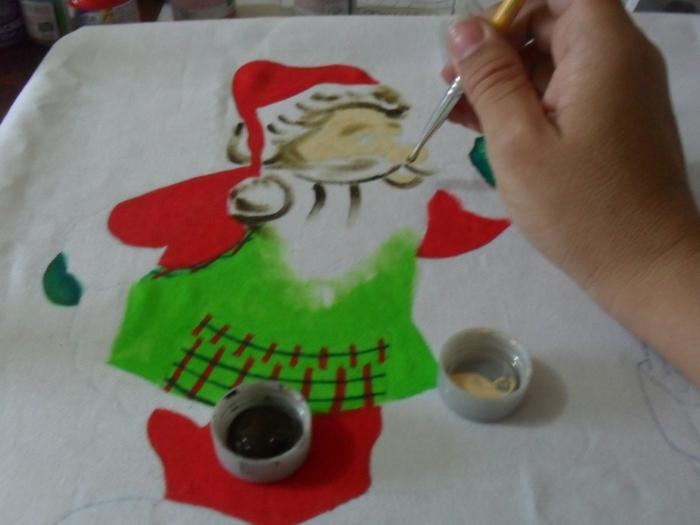 Рождественская роспись по ткани. Санта Клаус, снеговики (32) (700x525, 198Kb)