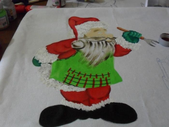 Рождественская роспись по ткани. Санта Клаус, снеговики (37) (700x525, 218Kb)