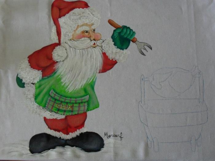 Рождественская роспись по ткани. Санта Клаус, снеговики (39) (700x525, 246Kb)