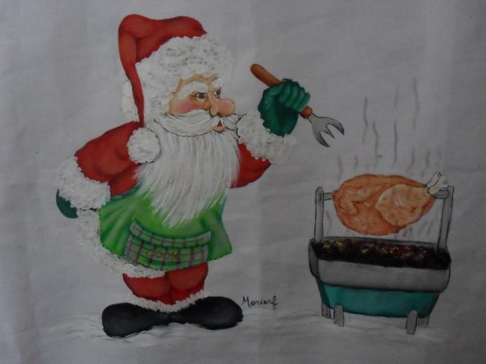 Рождественская роспись по ткани. Санта Клаус, снеговики (41) (700x525, 209Kb)