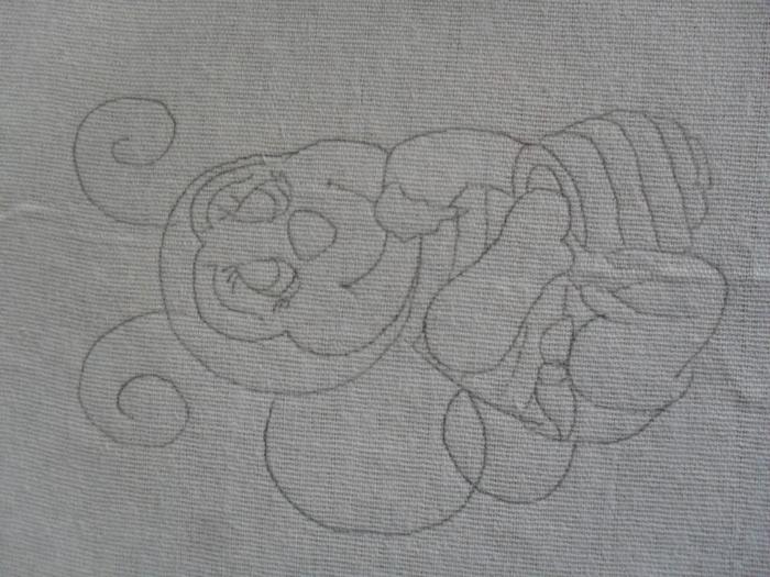 Рождественская роспись по ткани. Санта Клаус, снеговики (50) (700x525, 270Kb)