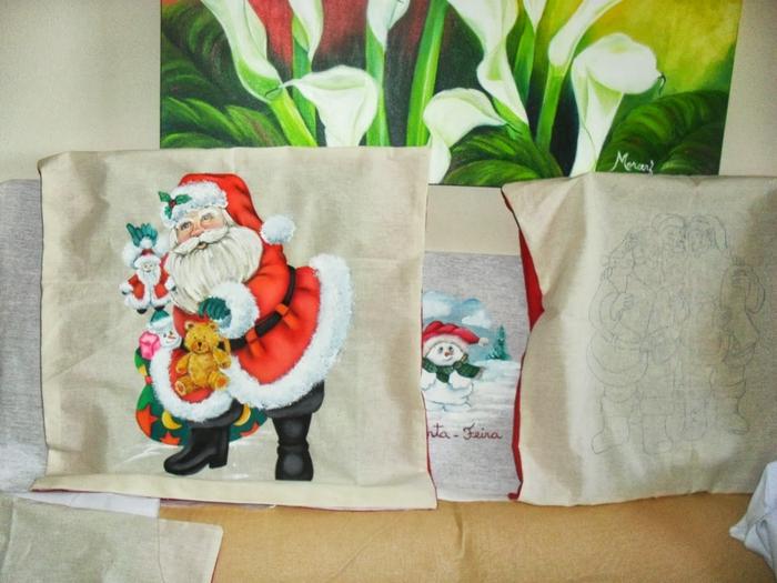 Рождественская роспись по ткани. Санта Клаус, снеговики (68) (700x525, 267Kb)