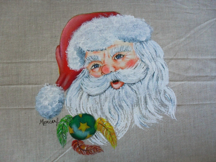 Рождественская роспись по ткани. Санта Клаус, снеговики (72) (700x525, 306Kb)