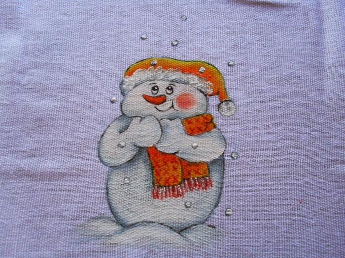 Рождественская роспись по ткани. Санта Клаус, снеговики (77) (700x525, 365Kb)