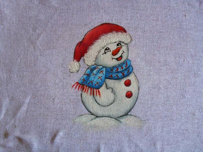 Рождественская роспись по ткани. Санта Клаус, снеговики (82) (700x525, 362Kb)