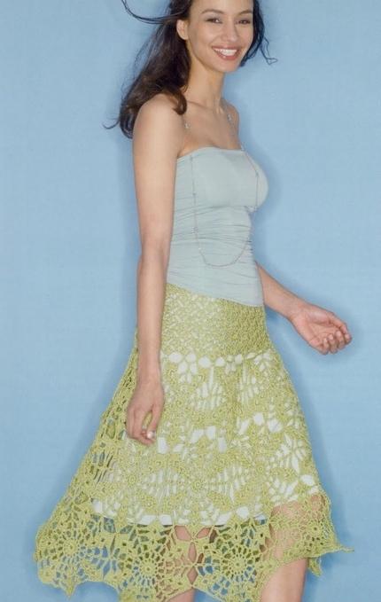 Вязаные юбки