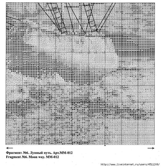 Схемы для вышивки лунный путь