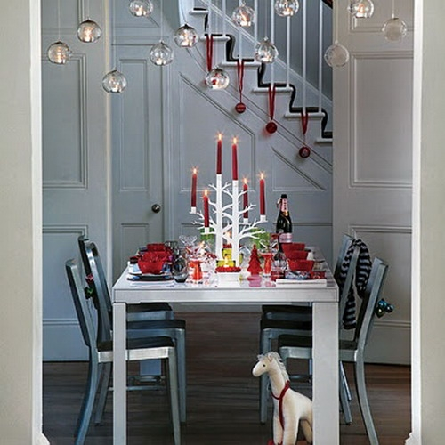 Дизайн интерьера. Потрясающие идеи украшения лестниц к Рождеству (43) (500x500, 145Kb)