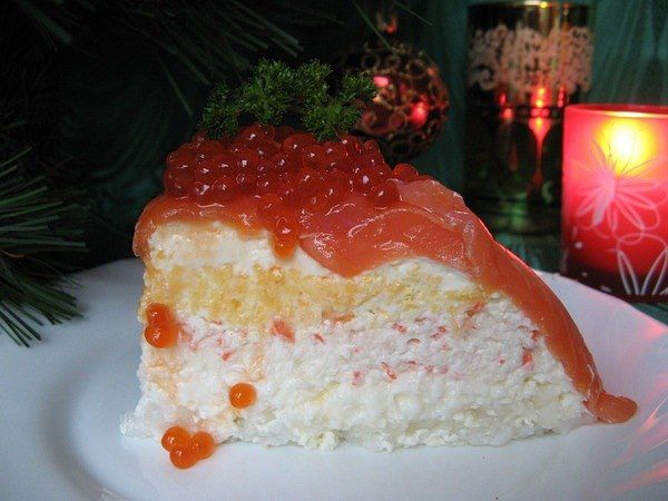 Торт семгой рецепт фото