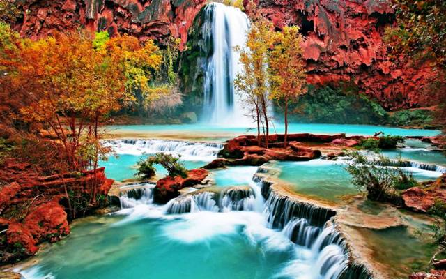 Сказочный водопад, схема