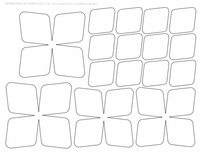 Цветы из бумаги. ГЕОРГИНЫ. Шаблоны для распечатки (7) (700x538, 170Kb)