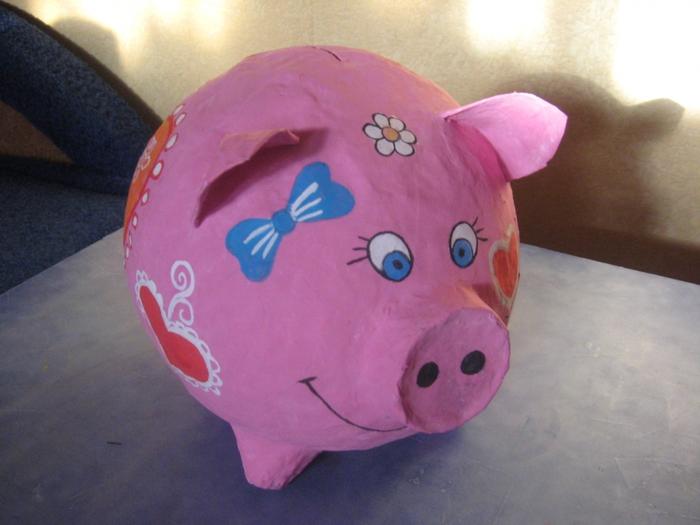 Копилка свинья своими руками