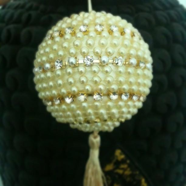 las bolas de Navidad y preciosos árboles de Navidad con perlas y cuentas (4) (612x612, 139Kb)