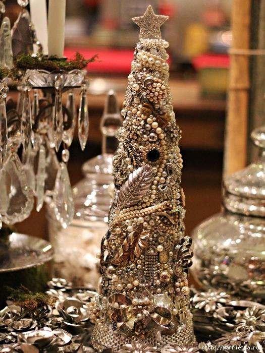 las bolas de Navidad y preciosos árboles de Navidad con perlas y cuentas (6) (525x700, 361Kb)