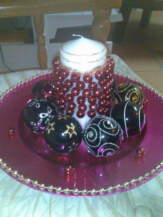 las bolas de Navidad y preciosos árboles de Navidad con perlas y cuentas (46) (525x700, 315KB)
