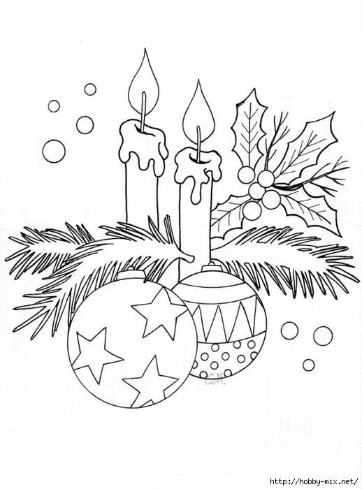 Рисунки раскраски елочки