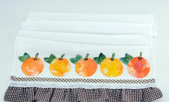 Яблочки на кухонном полотенце. Аппликация (9) (700x420, 401Kb)