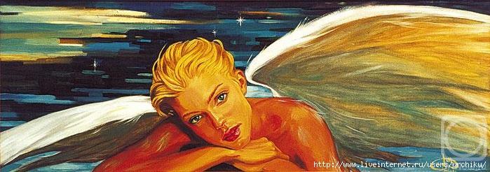 Рождественский ангел (700x246, 188Kb)