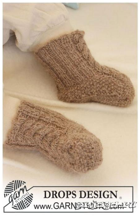 Как связать носки для малышами