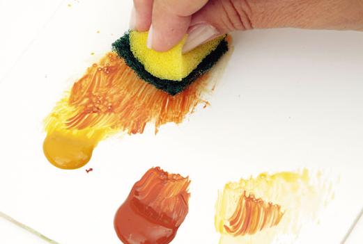 Декорирование полочки акриловыми красками (4) (521x351, 226Kb)