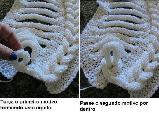 шарфик спицами от Поликсении! Мастер-класс (6) (520x371, 156Kb)