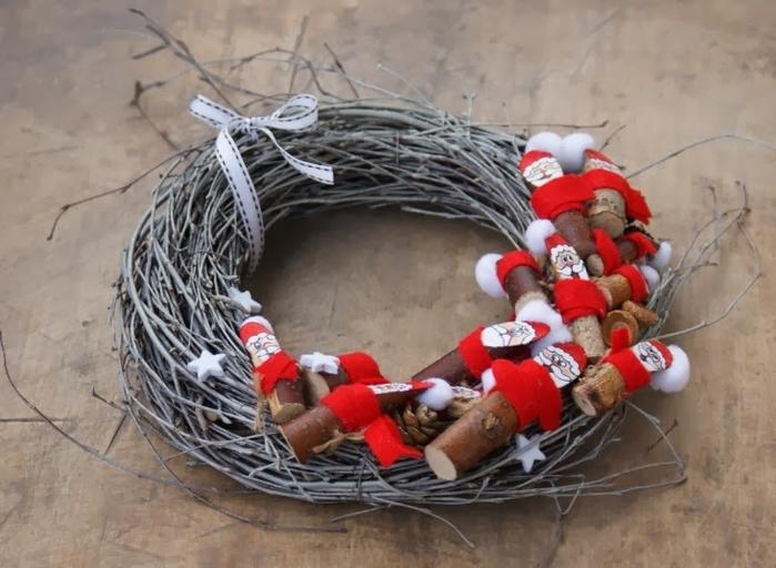 Березовые Санта Клаусы) Веселые поделки для творчества с детьми (31) (700x512, 238Kb)