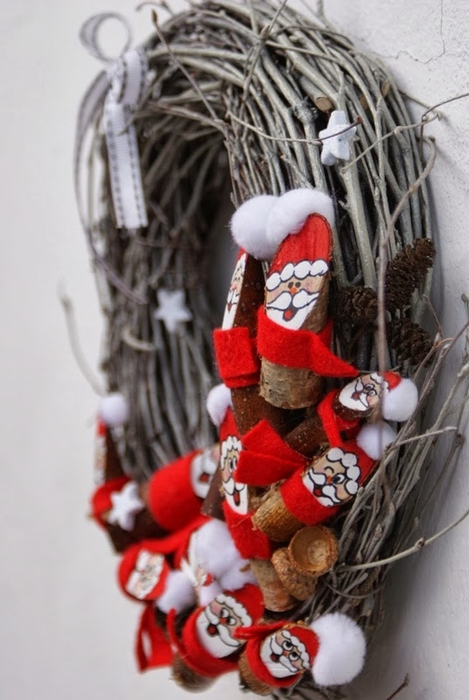 Березовые Санта Клаусы) Веселые поделки для творчества с детьми (32) (469x700, 216Kb)