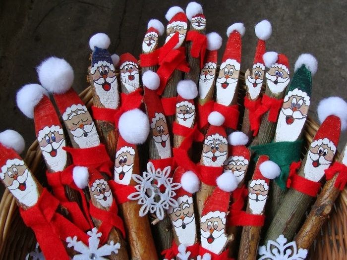 Березовые Санта Клаусы) Веселые поделки для творчества с детьми (39) (700x525, 318Kb)