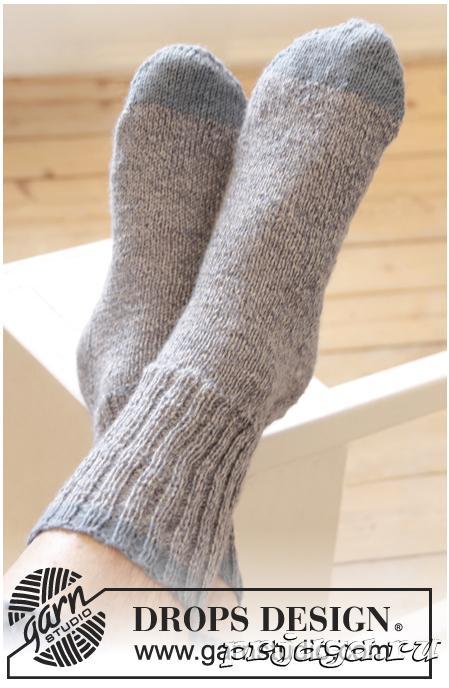 Как вязать носки спицами для