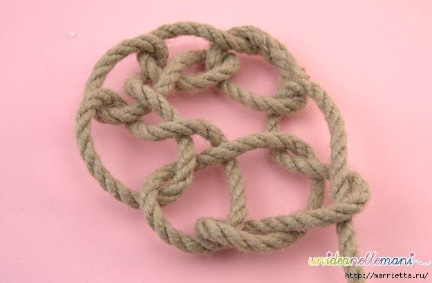 Корзинка из веревки. Вязание на руках (9) (625x410, 86Kb)