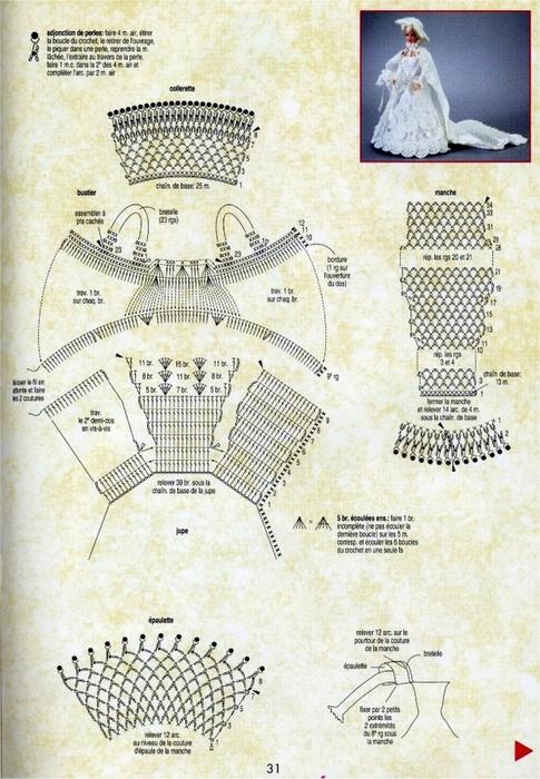 Барби вязание одежда схемы крючком