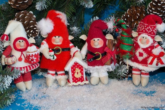 Сшитые новогодние игрушки своими руками