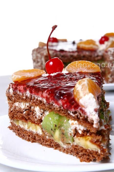 shokoladnyj biskvitnyj tort s fruktami i orehami (466x700, 77Kb)