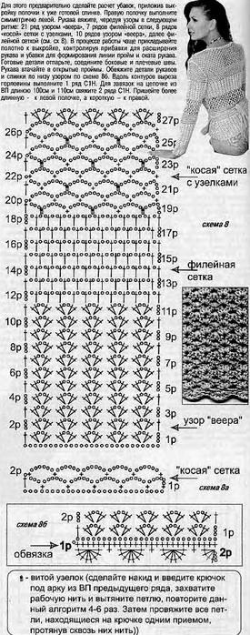 кофточки с запахом. схемы (3) (275x698, 222Kb)