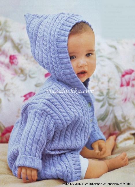 Кофточка с капюшоном Вязание