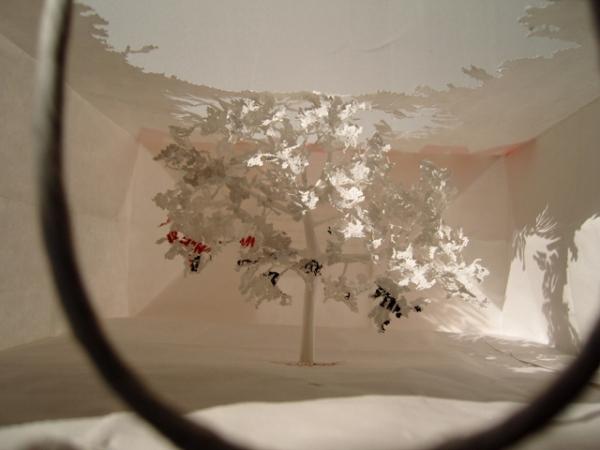 бумажные деревья художник Юкен Теруя 2 (600x450, 163Kb)