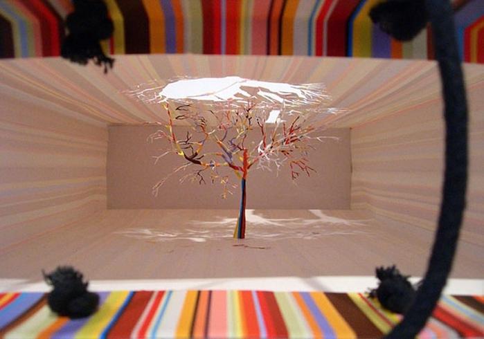 бумажные деревья художник Юкен Теруя 4 (700x490, 211Kb)