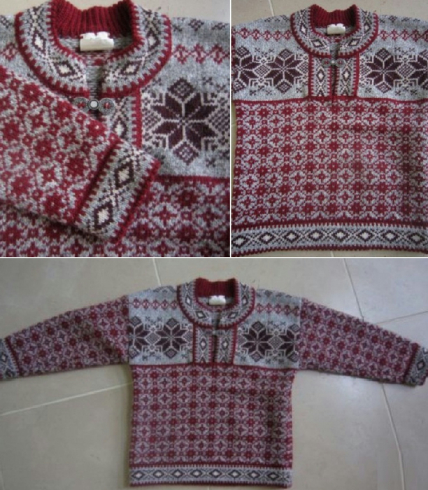 Girl's Fair Isle Wool Sweater 3T 4T Excellent (612x700, 471Kb)