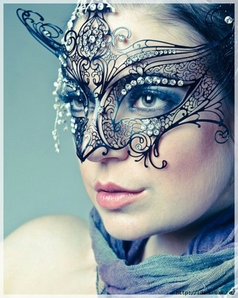 как сделать ажурную новогоднюю маску, ажурная маска для маскарада своими руками,