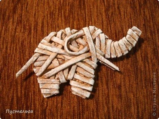 Плетение из газет. Лошадка и другие игрушки для елочки (5) (520x390, 167Kb)