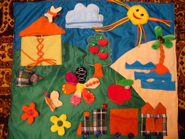 Развивающий коврик для детей 2 лет своими руками