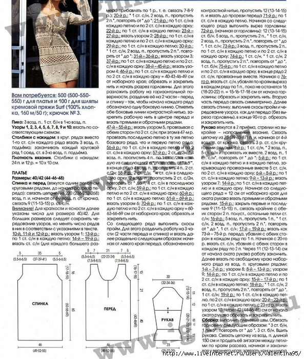 Платье-туника и шляпка (3) (593x700, 416Kb)