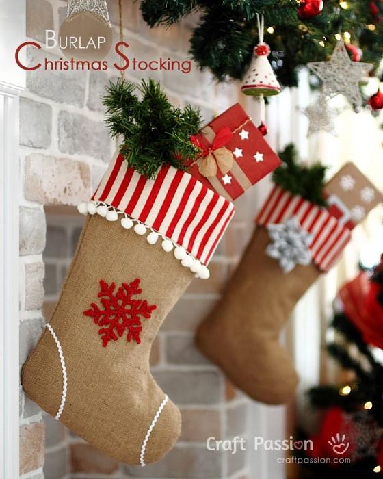 Рождественский чулок из мешковины. Выкройка (5) (560x700, 286Kb)