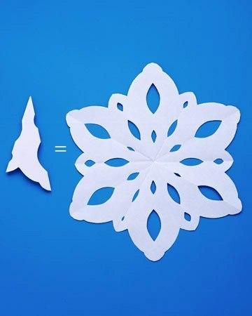 Как вырезать легкие снежинки из бумаги своими руками поэтапно
