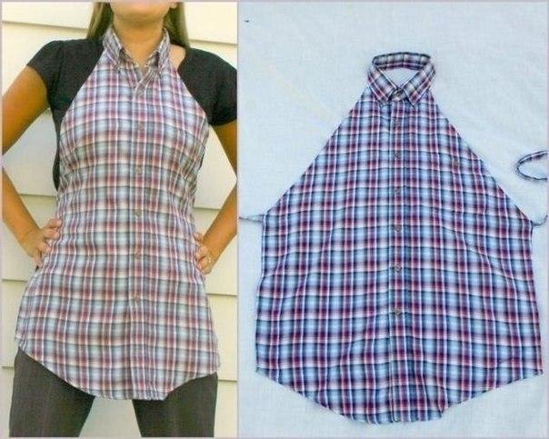 Фартук из старой рубашки (604x483, 71Kb)